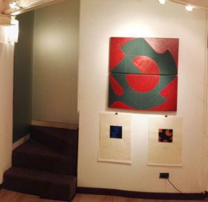 """Ernest A. Kienzl in der Ausstellung """"Incontr d´arte"""" in Udine"""